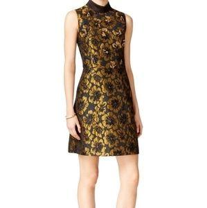 Rachel Rachael Roy metallic sheath gold dress